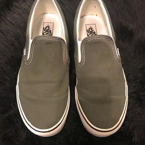 Men's Gray Slip On Vans Size 11.5